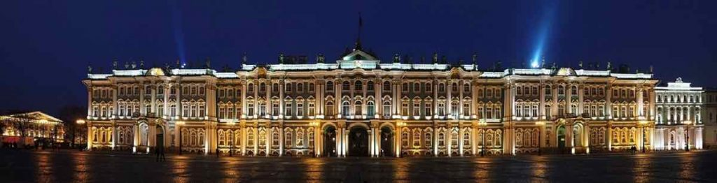 State Hermitage Museum at night