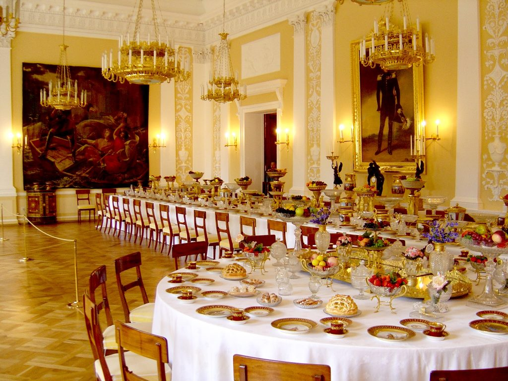 Banquet Room, Summer Palace of Peter the Great, St Petersburg, Russia