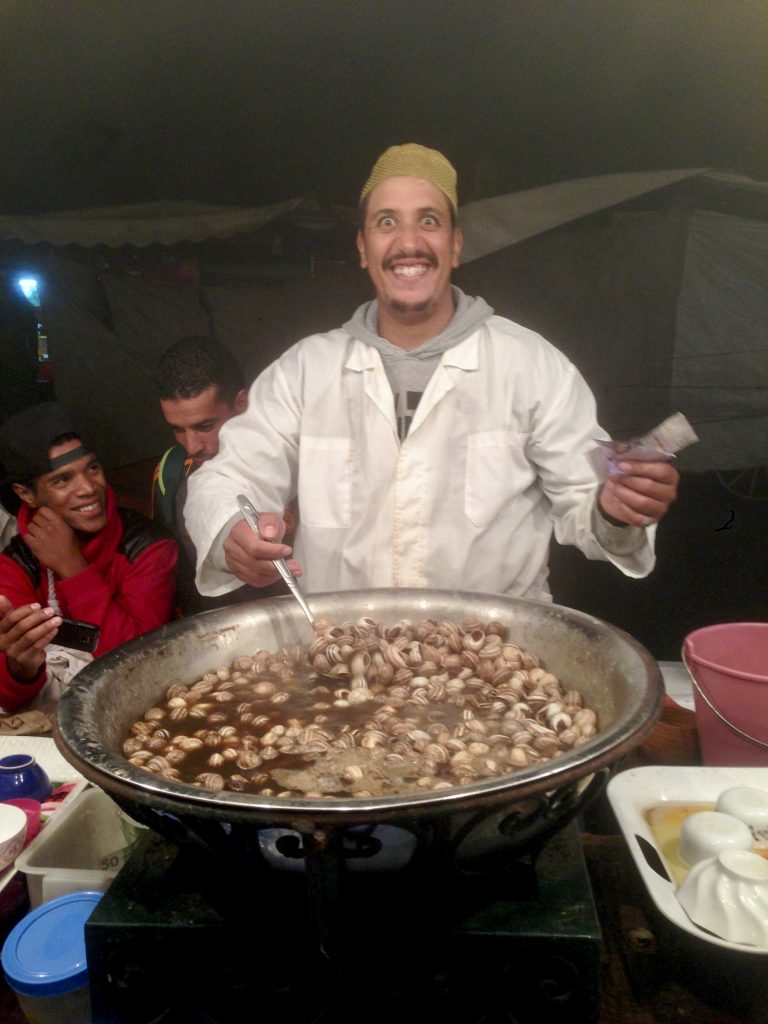 Snails anyone. Djemaa El-Fna