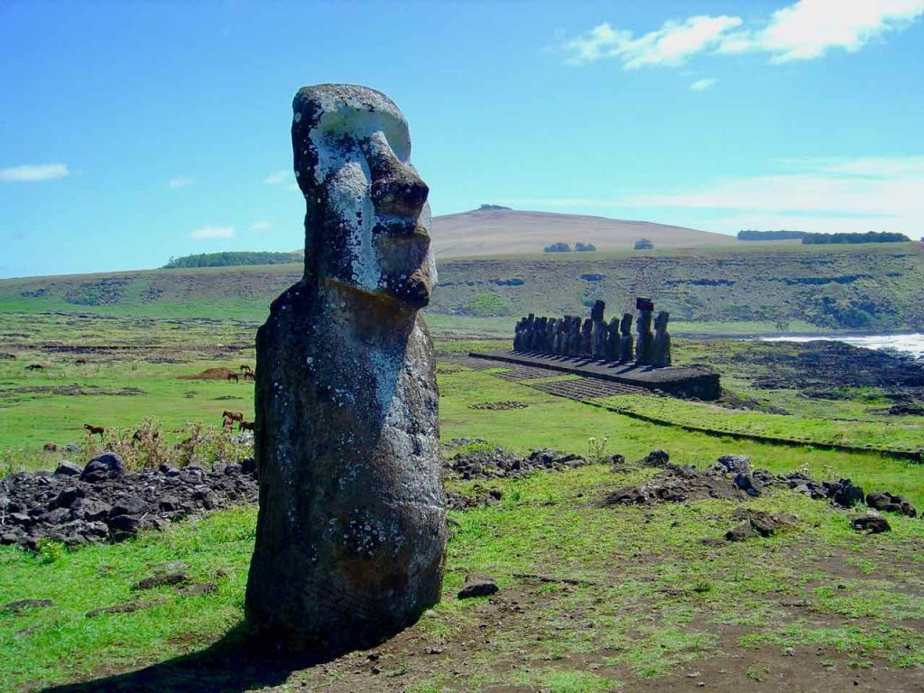 Easter Island statues at Ahu Tongariki