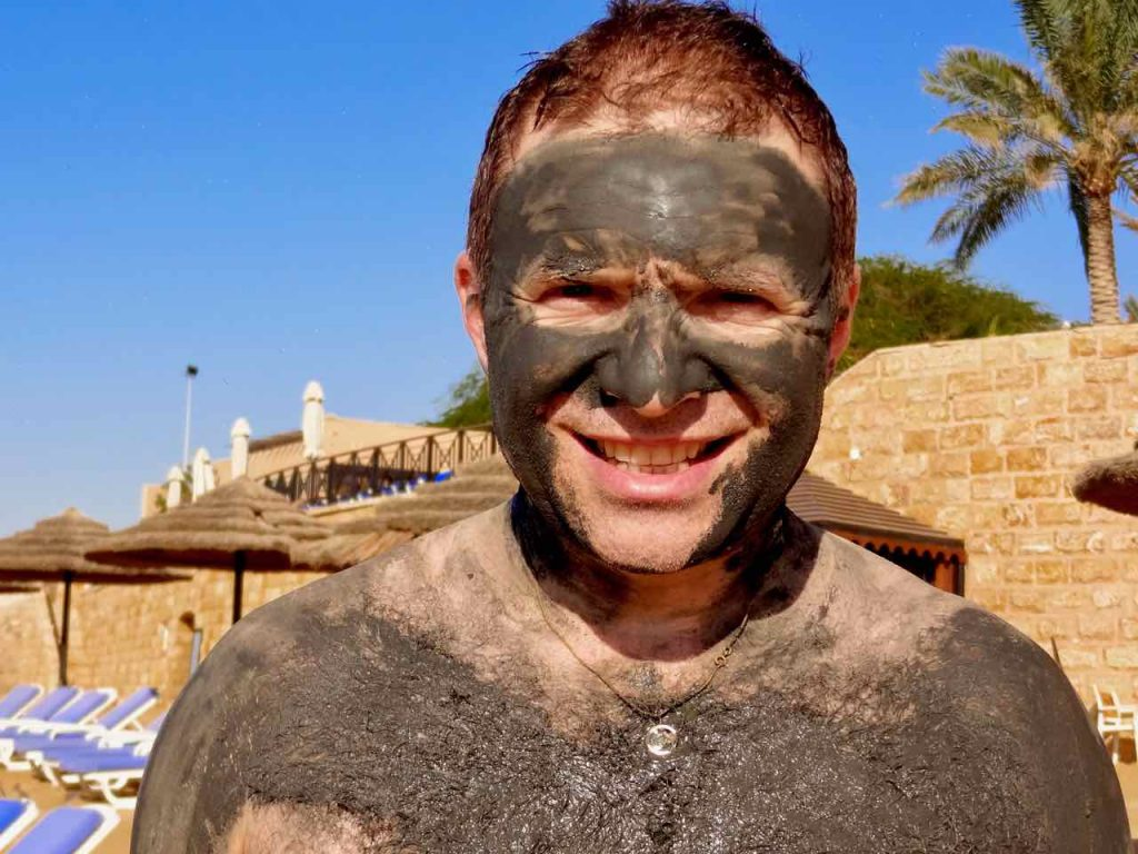 Using the Dead Sea mud