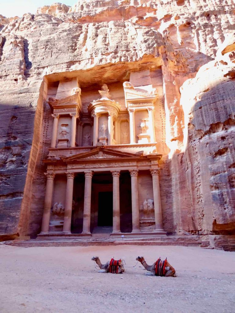 Al Khazneh (the Treasury) inside Petra Jordan